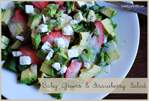 Baby Greens and Strawberry Salad