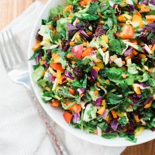 Rainbow Chopped Salad with Honey Apple Vinaigrette