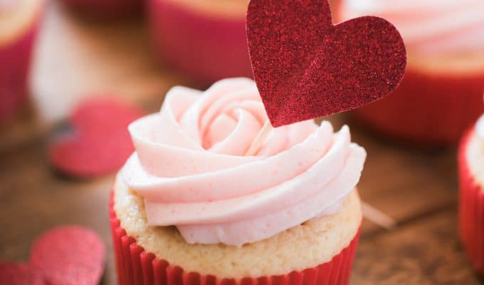 Strawberry Vanilla Cupcakes with Strawberry Buttercream