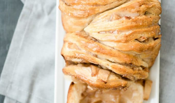Apple Pie Pull Apart Bread