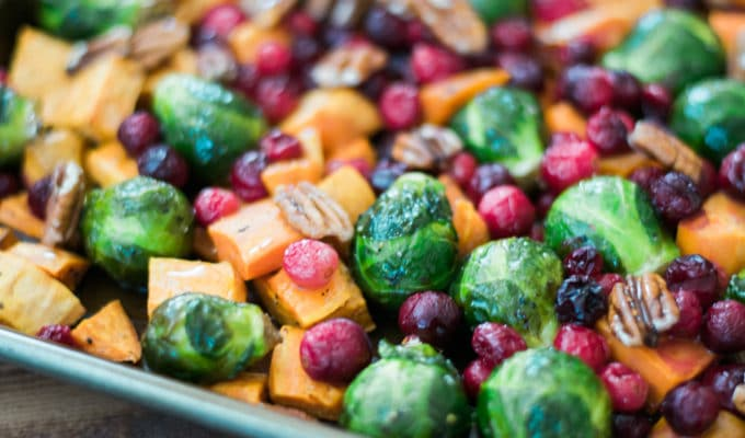 Honey Roasted Vegetables with Cranberries & Pecans