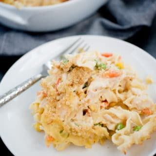 Chicken Noodle Casserole - Sweetly Splendid