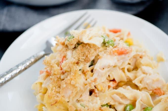 Chicken Noodle Casserole - Sweetly Splendid