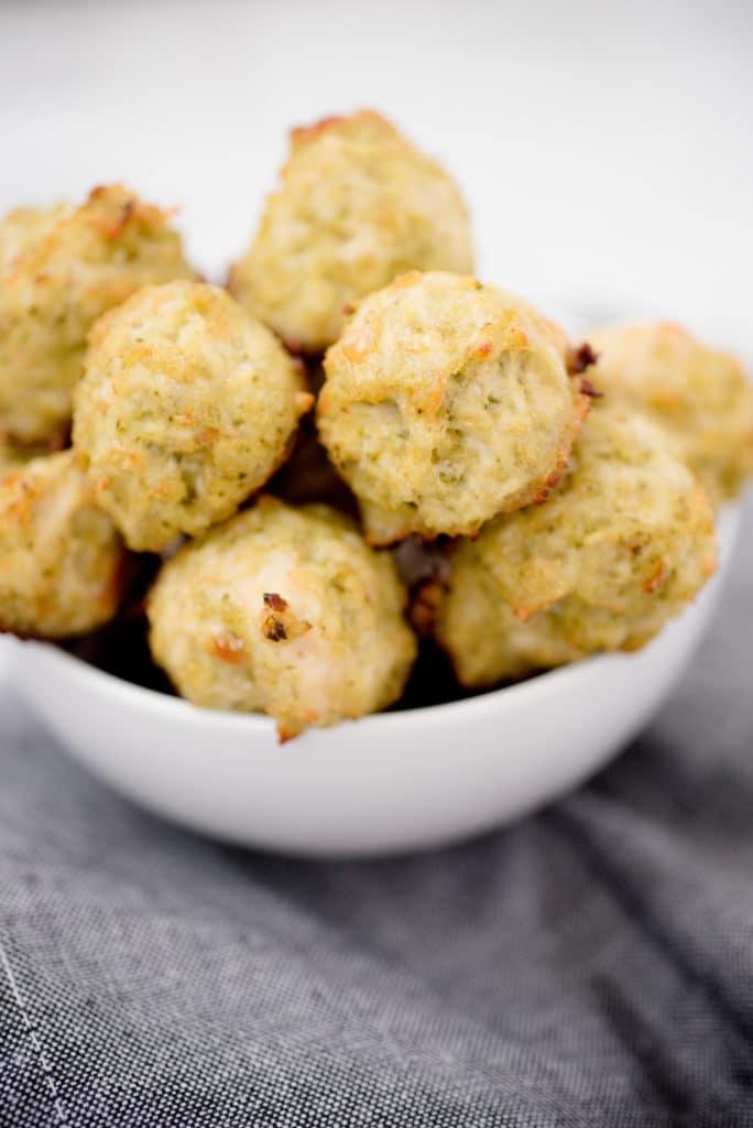 Chicken Pesto Meatballs - Sweetly Splendid