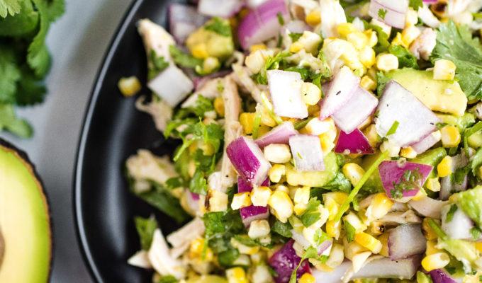 Avocado Chicken Chopped Salad