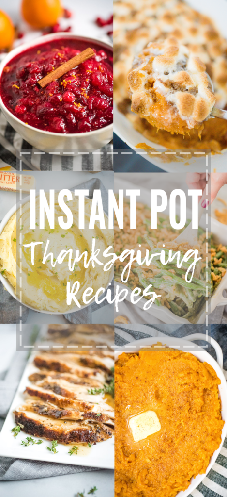 a collection of images showing food that can be made in the instant pot