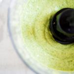 blended dressing in food processor