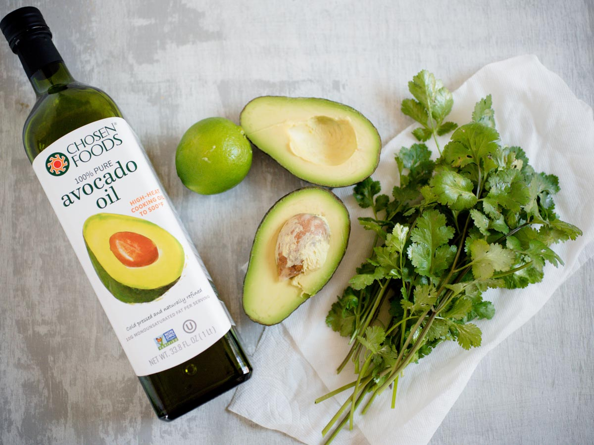 ingredients for avocado cilantro dressing