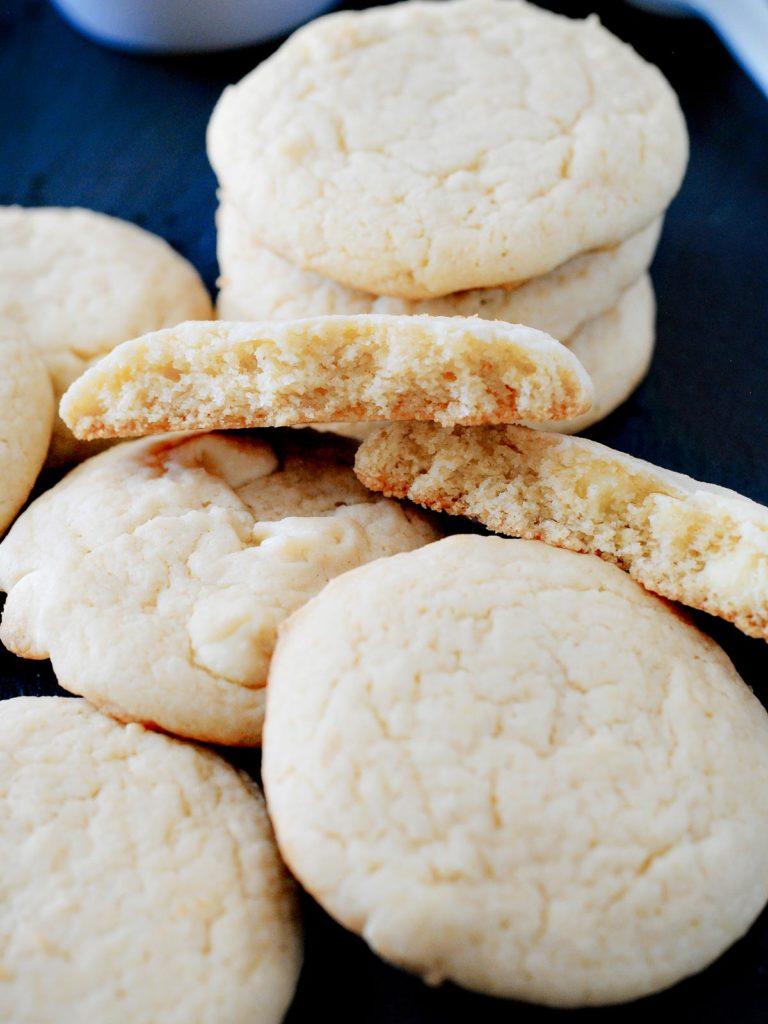 broken cookies stacked