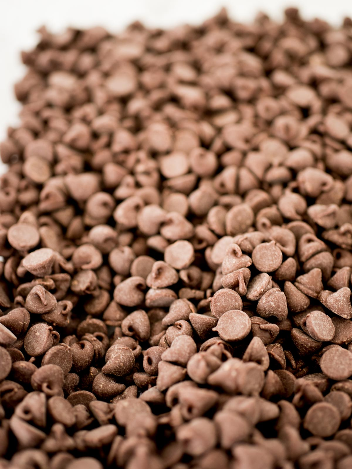 a pile of chocolate chips