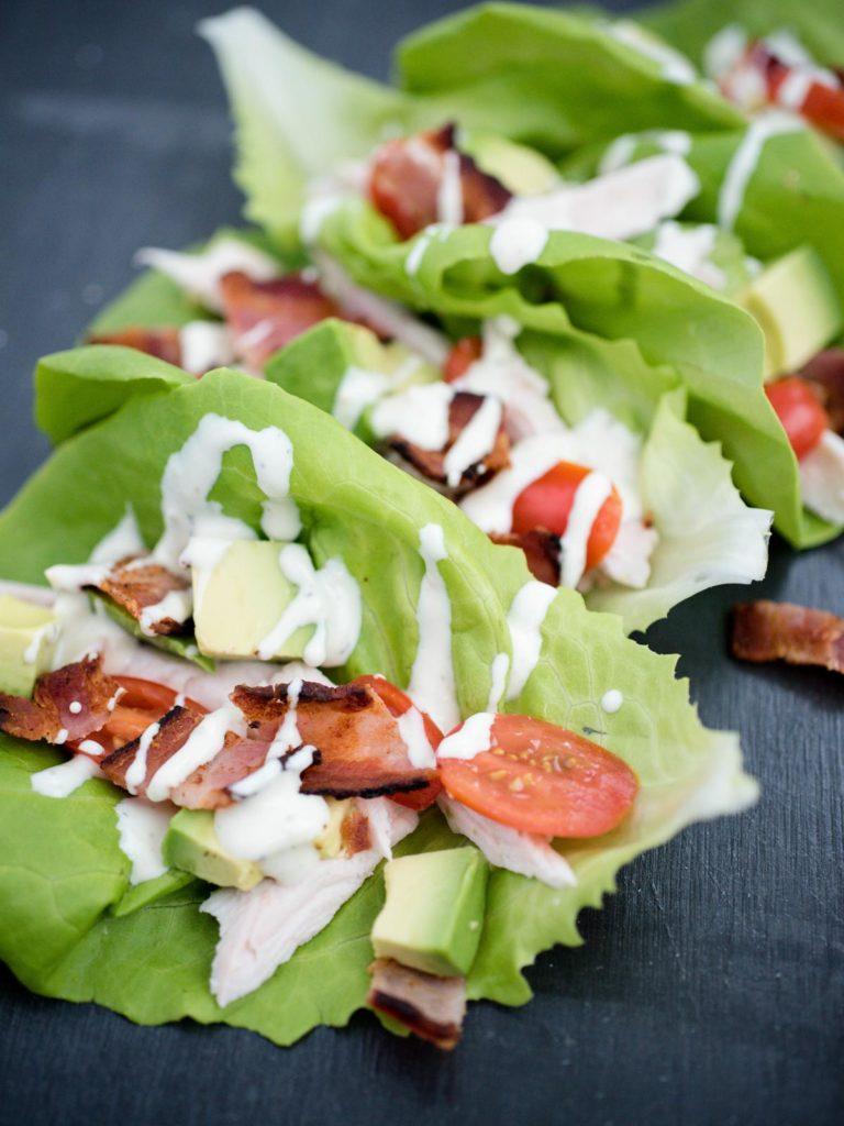 Chicken Club Lettuce Wraps