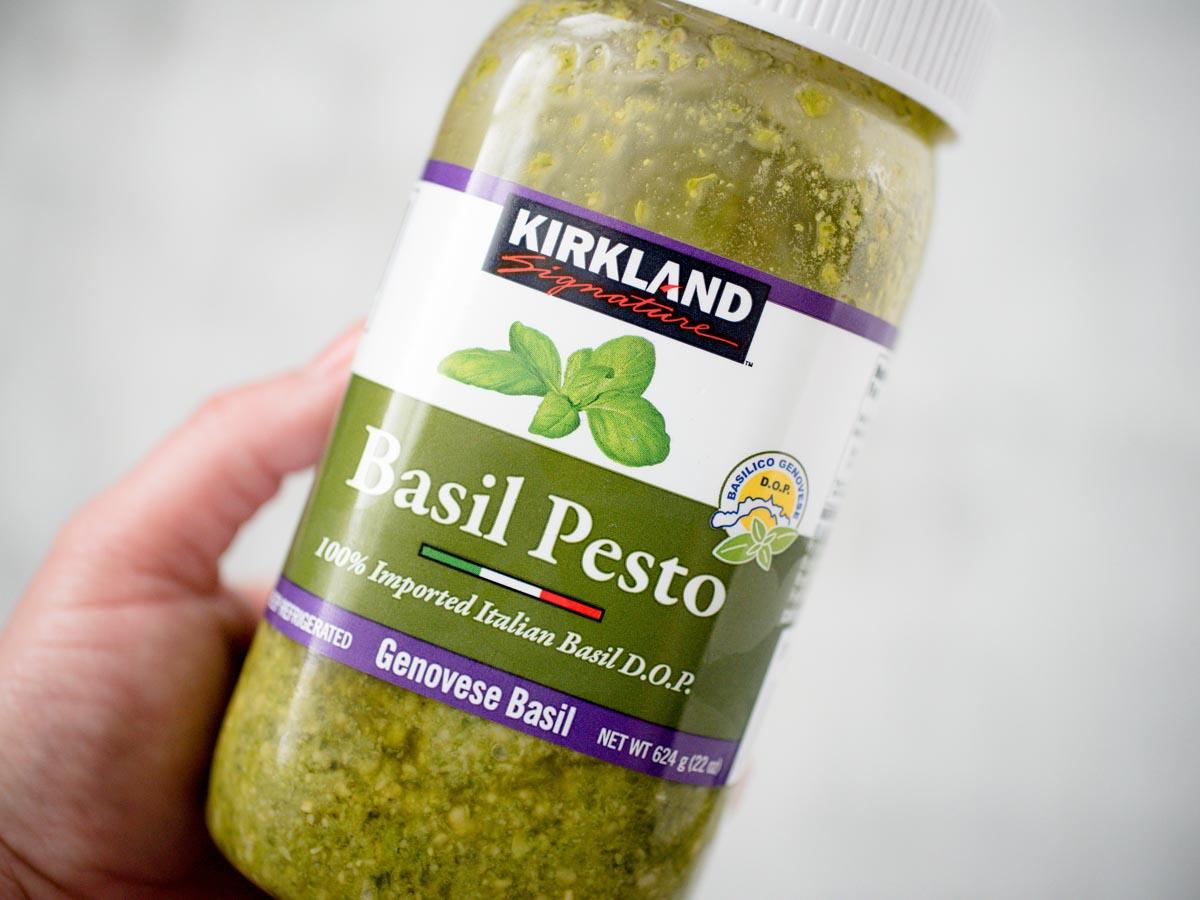 jar of basil pesto