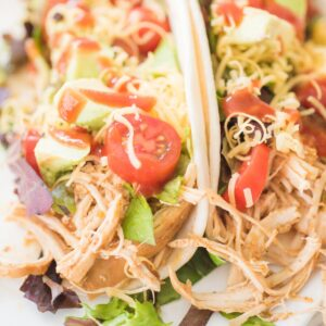 chicken tacos with toppings