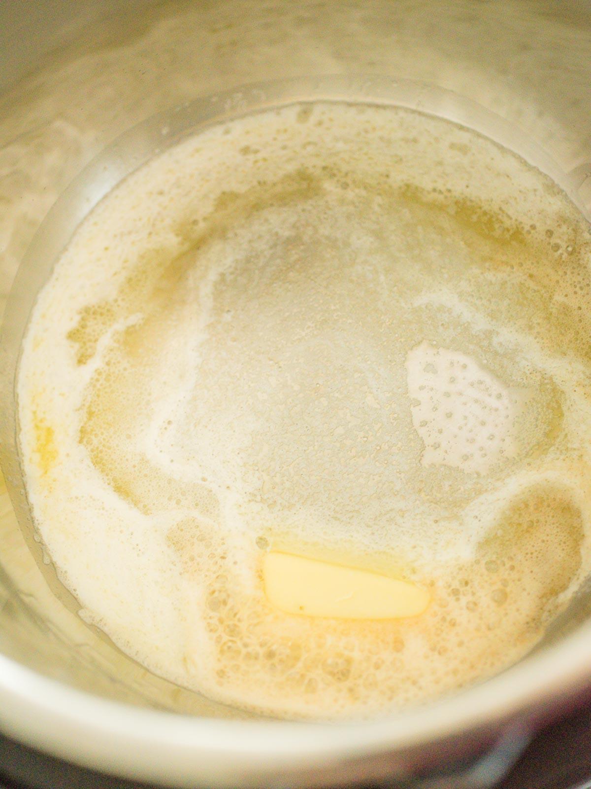 butter melting in instant pot