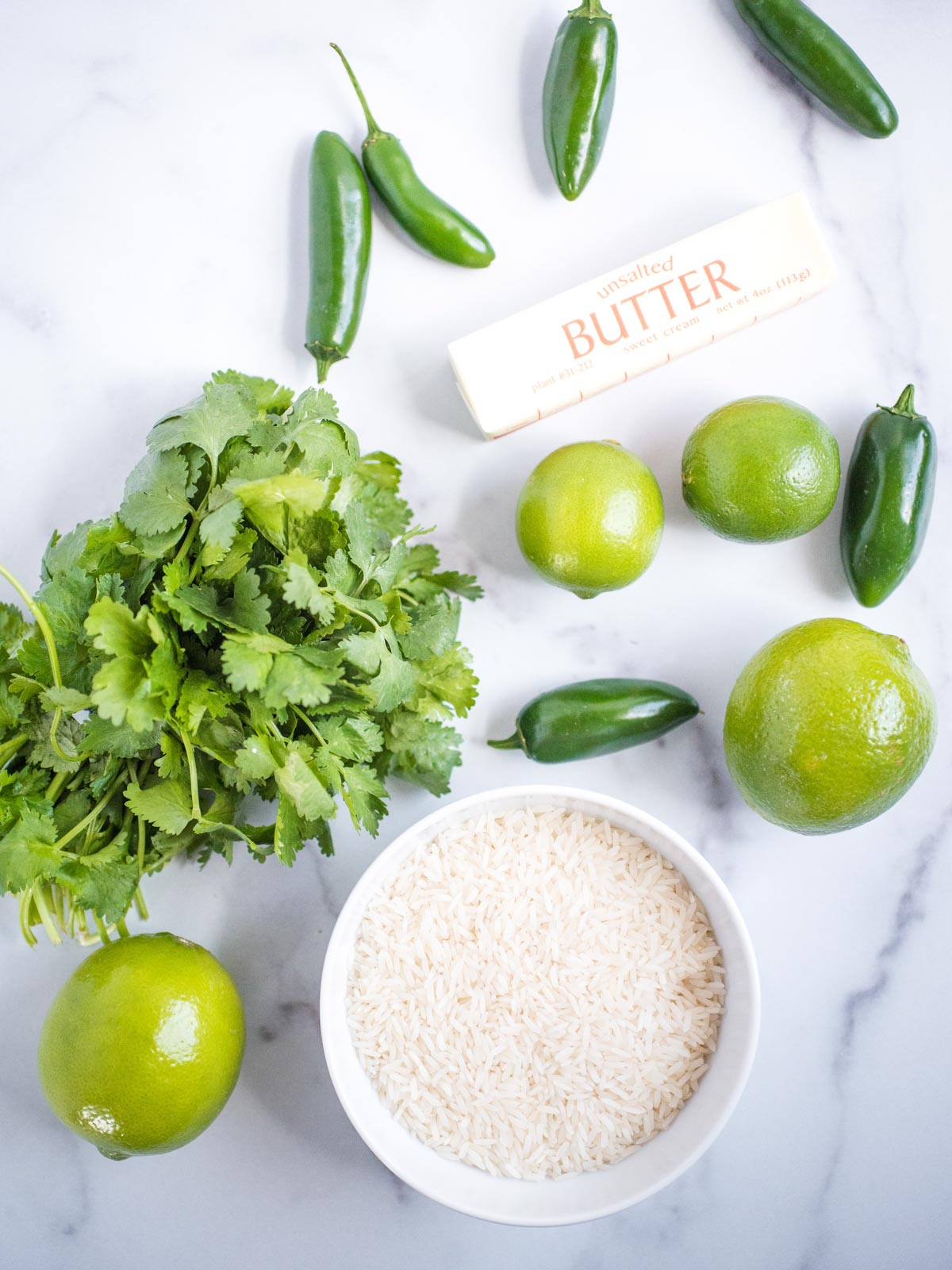 ingredients for jalapeno lime rice