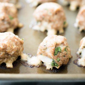 meatballs on a baking sheet