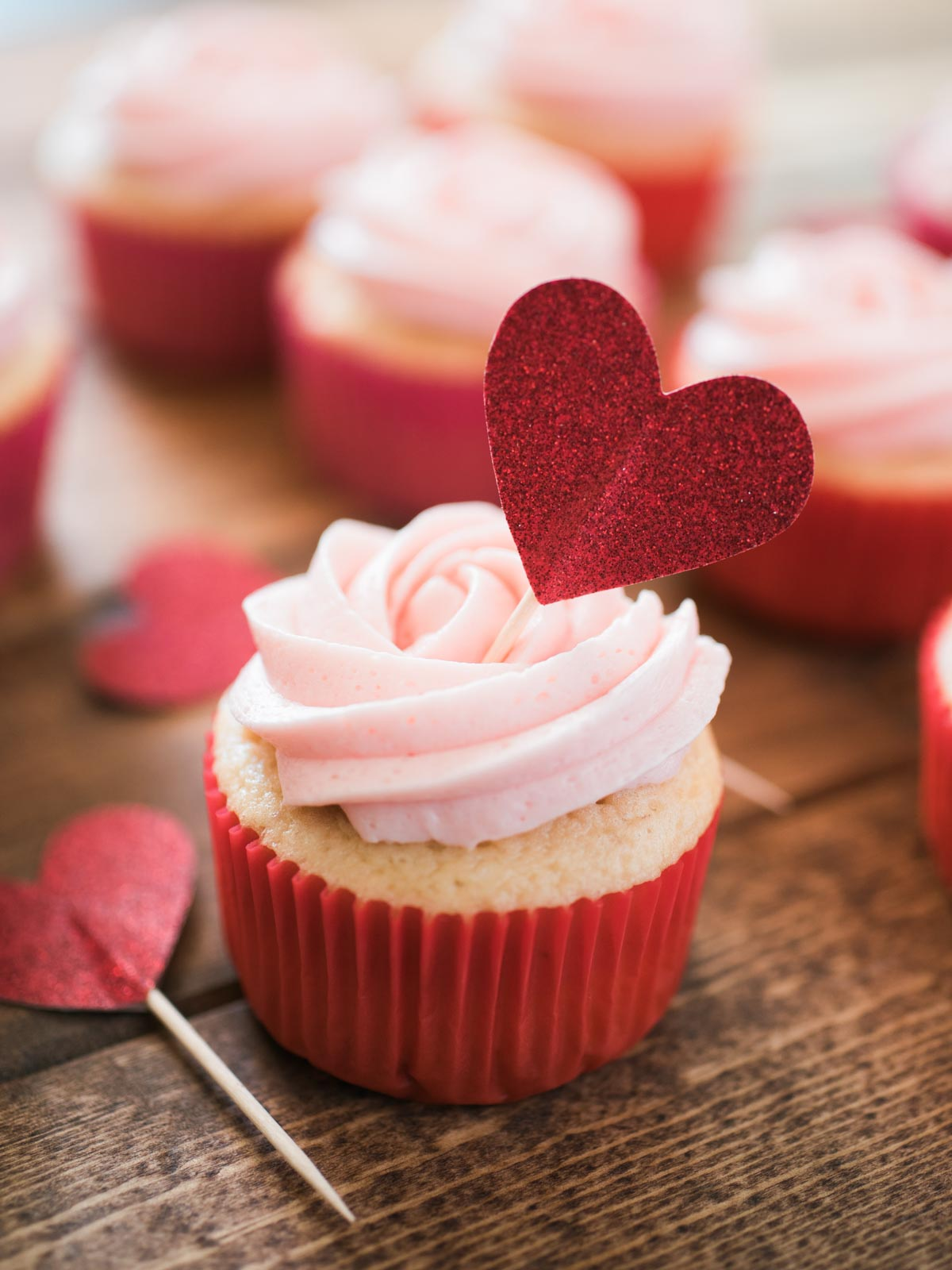 cupcake with a heart topper