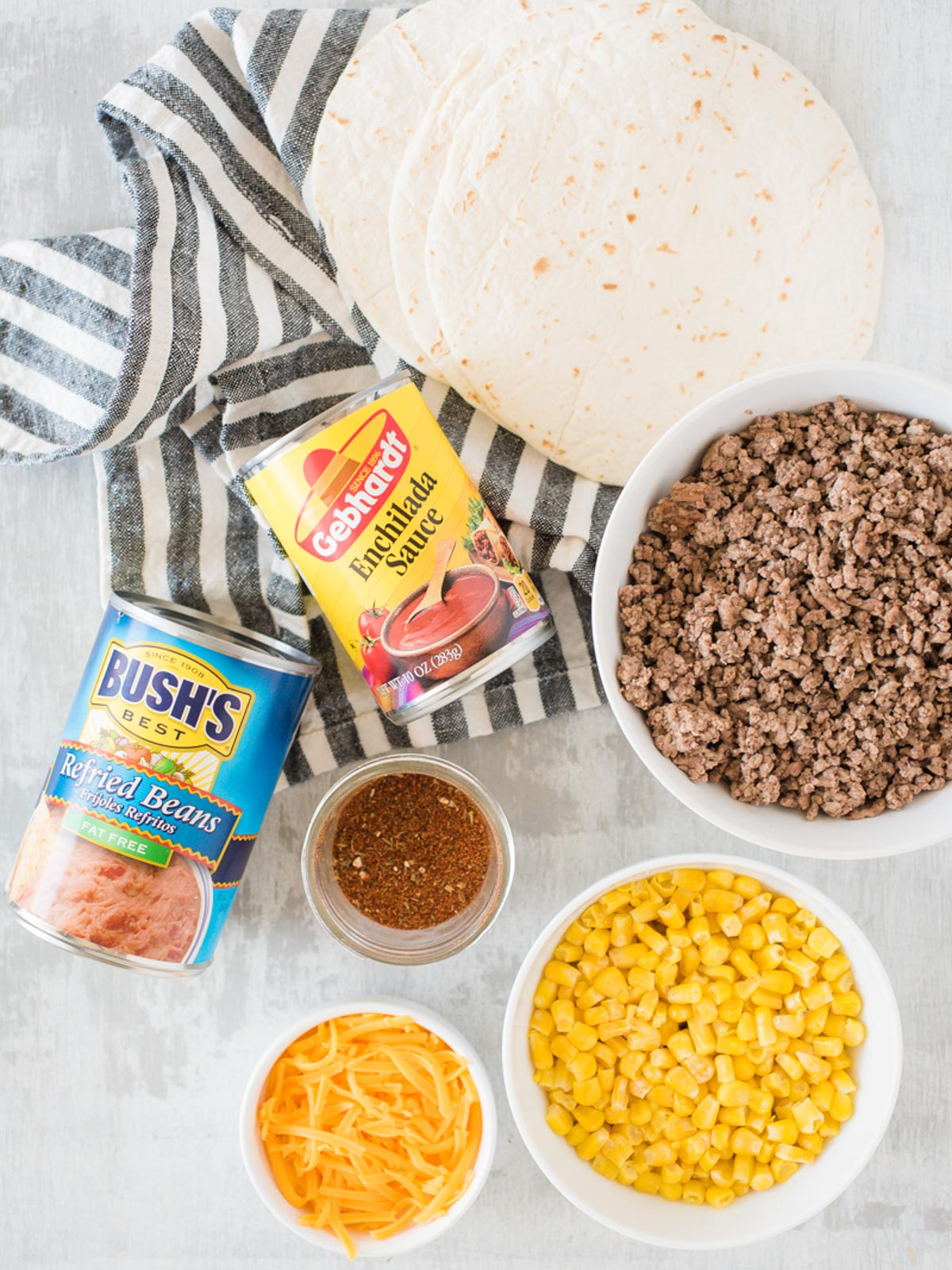 ingredients for taco pie