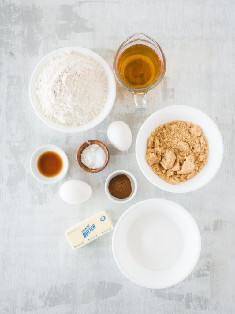 ingredients for apple cider cupcakes