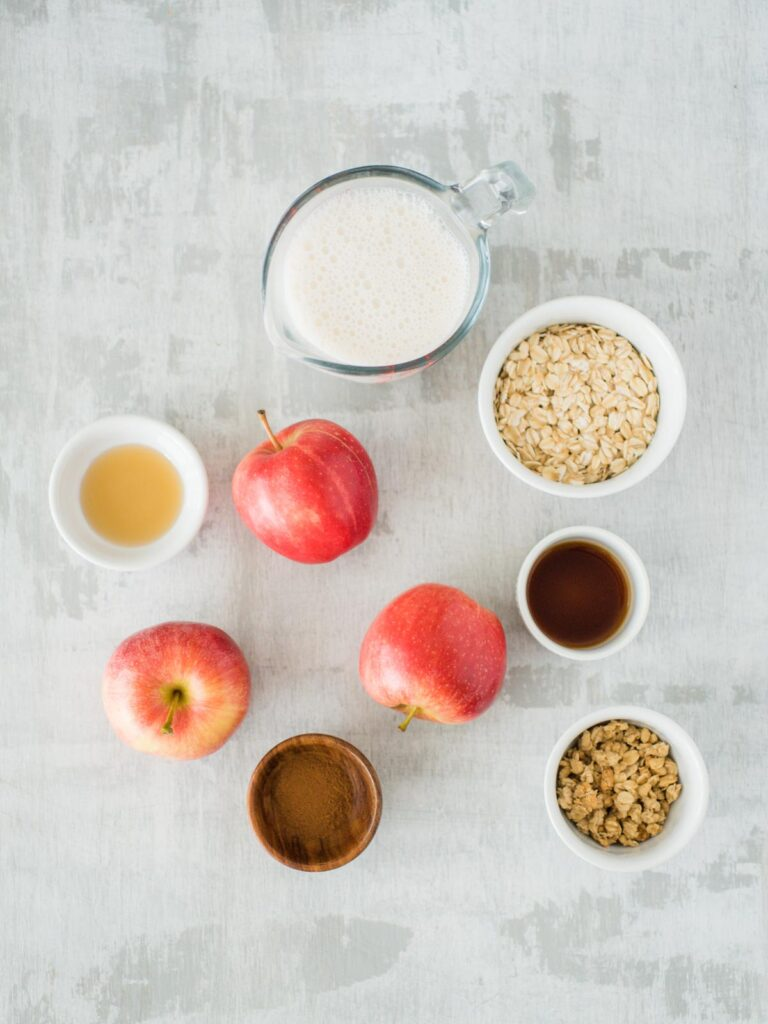 ingredients for apple pie overnight oats