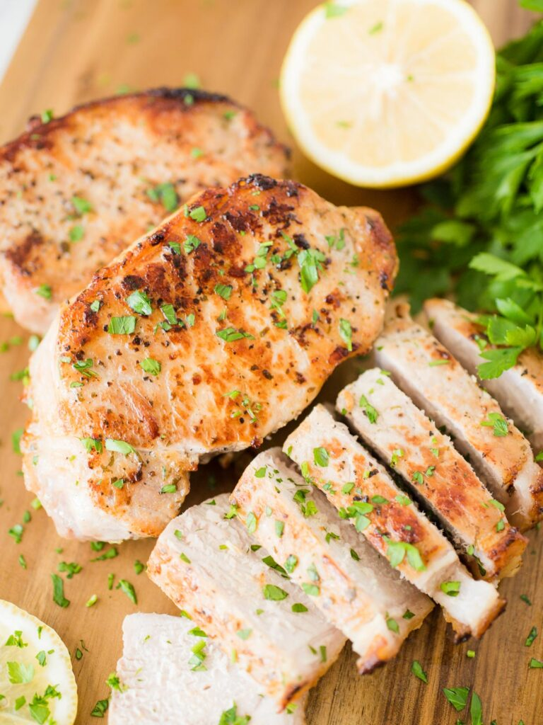 sliced baked ranch pork chops