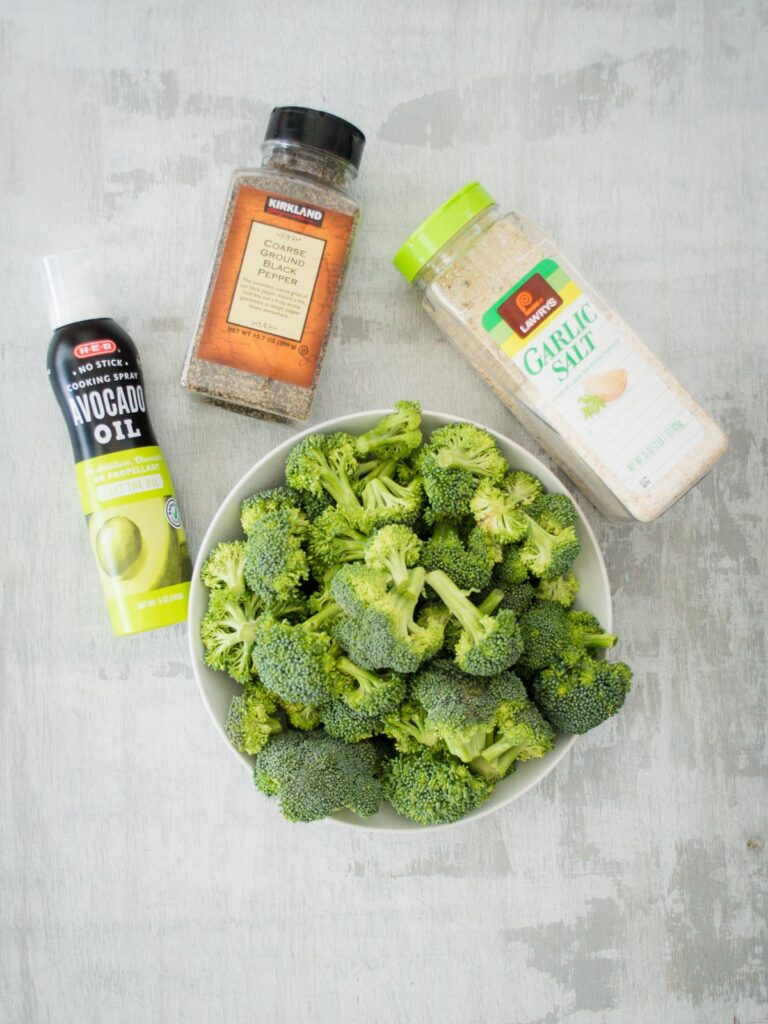 ingredients for easy roasted broccoli