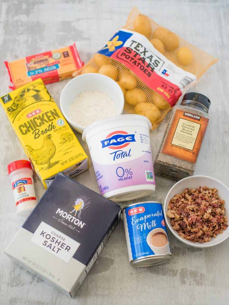 ingredients for slow cooker potato soup