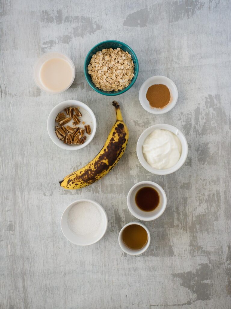 ingredients for banana bread overnight oats