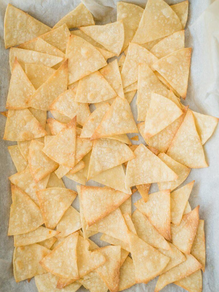 chips on baking sheet