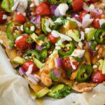 simple sheet pan chicken nachos