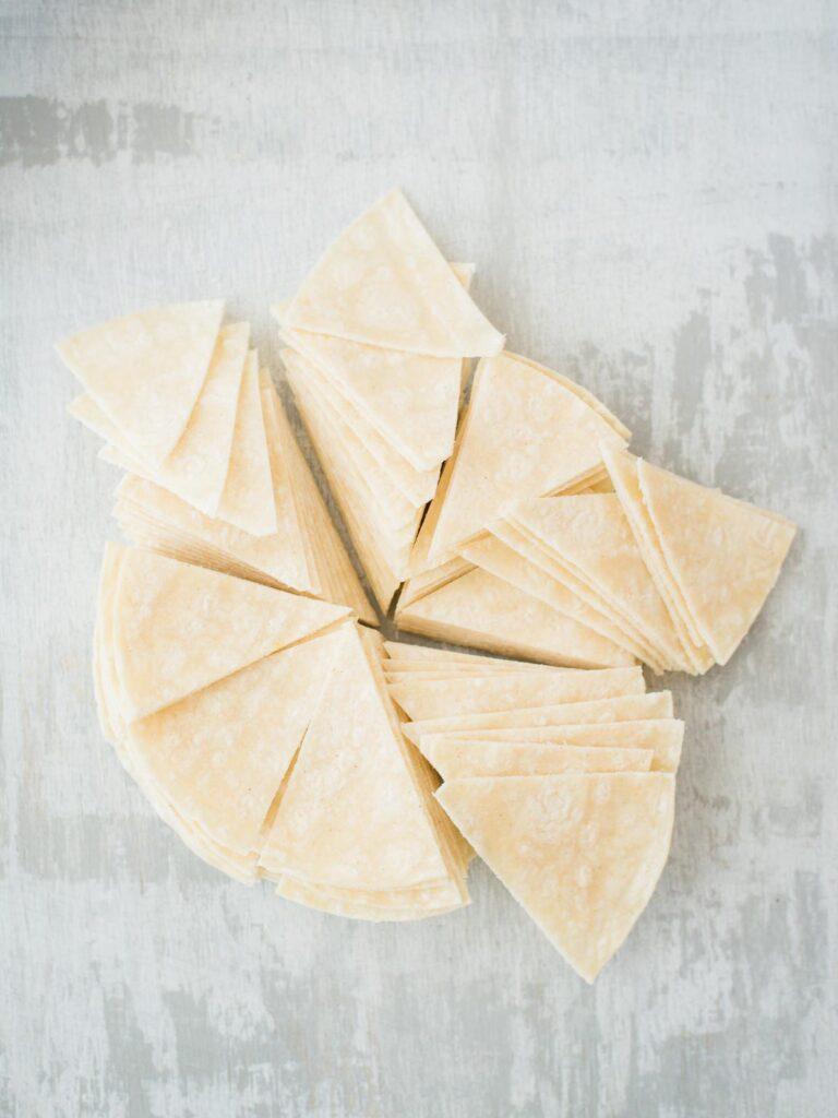 cut up tortillas