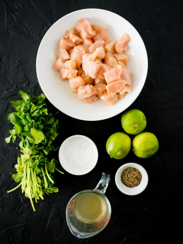 ingredients for slow cooker cilantro lime chicken