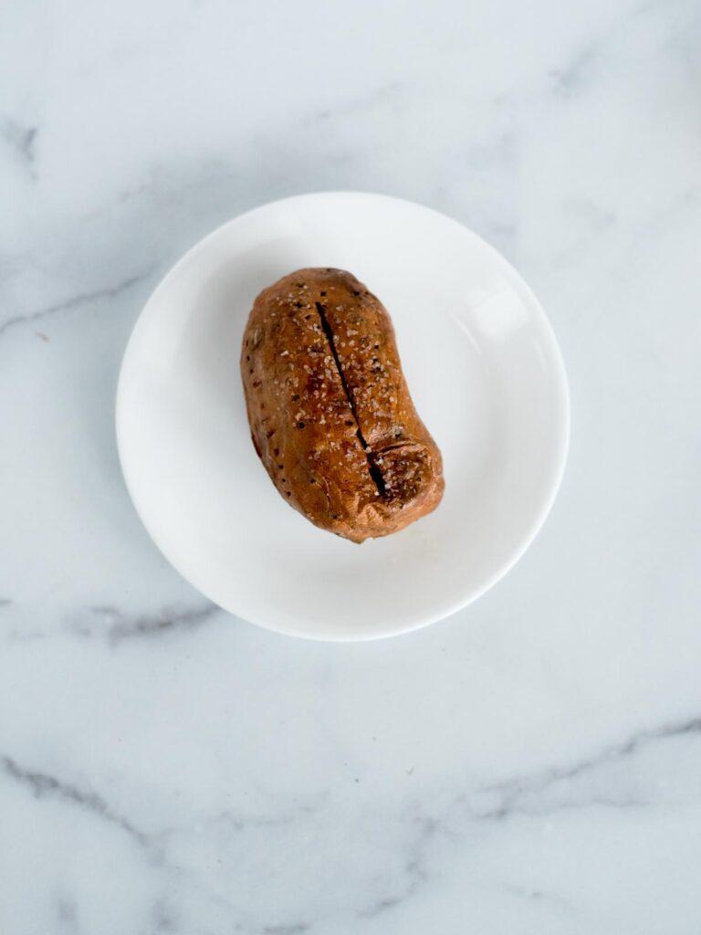 sweet potato on plate