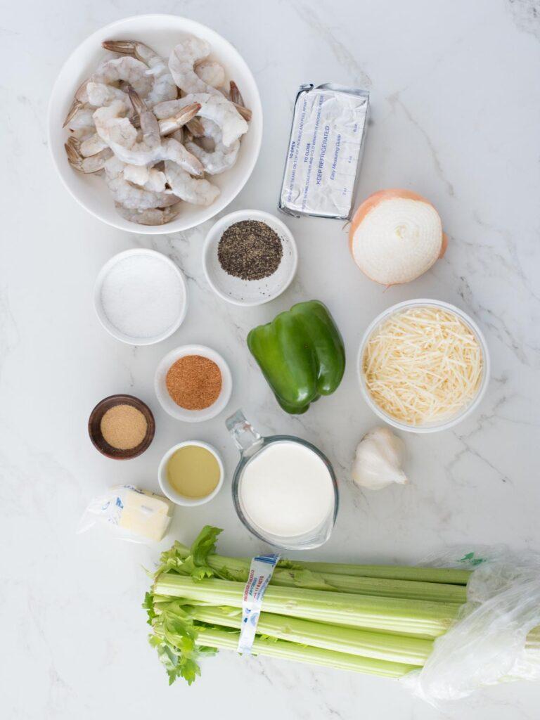 ingredients for cajun shrimp alfredo