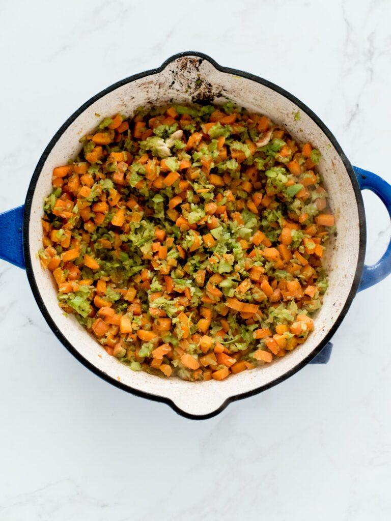sautéed vegetables in a skillet