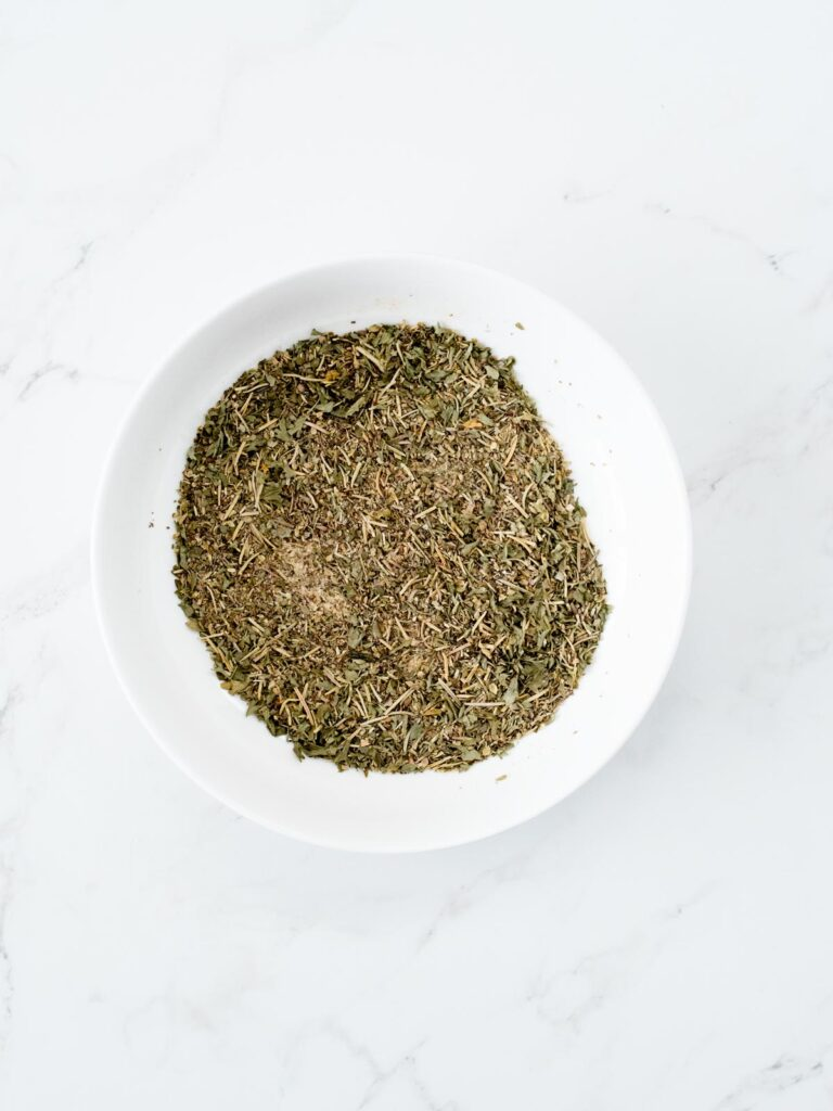 greek seasoning blend in a bowl all mixed up