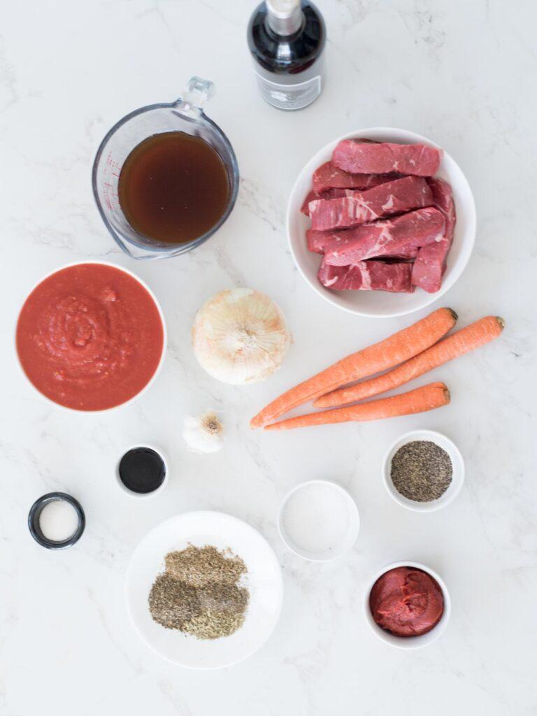 ingredients for beef ragu