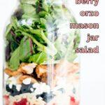 berry orzo mason jar salad pinterest graphic