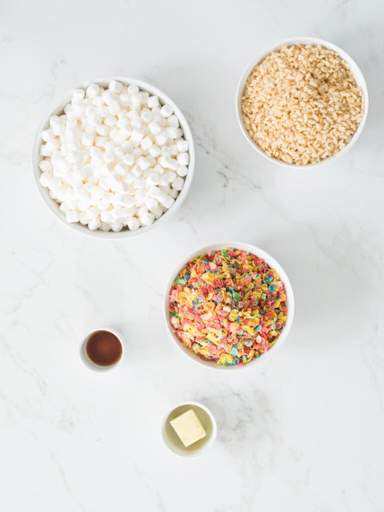 ingredients for fruity pebbles rice krispie treats