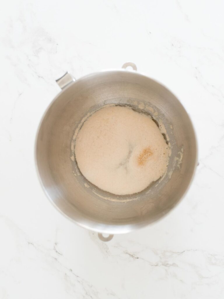 yeast and water proofing in a bowl