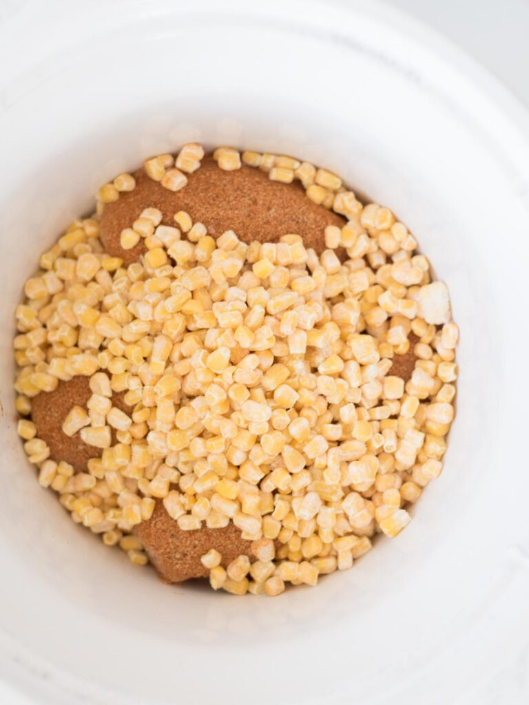 corn added to the crockpot
