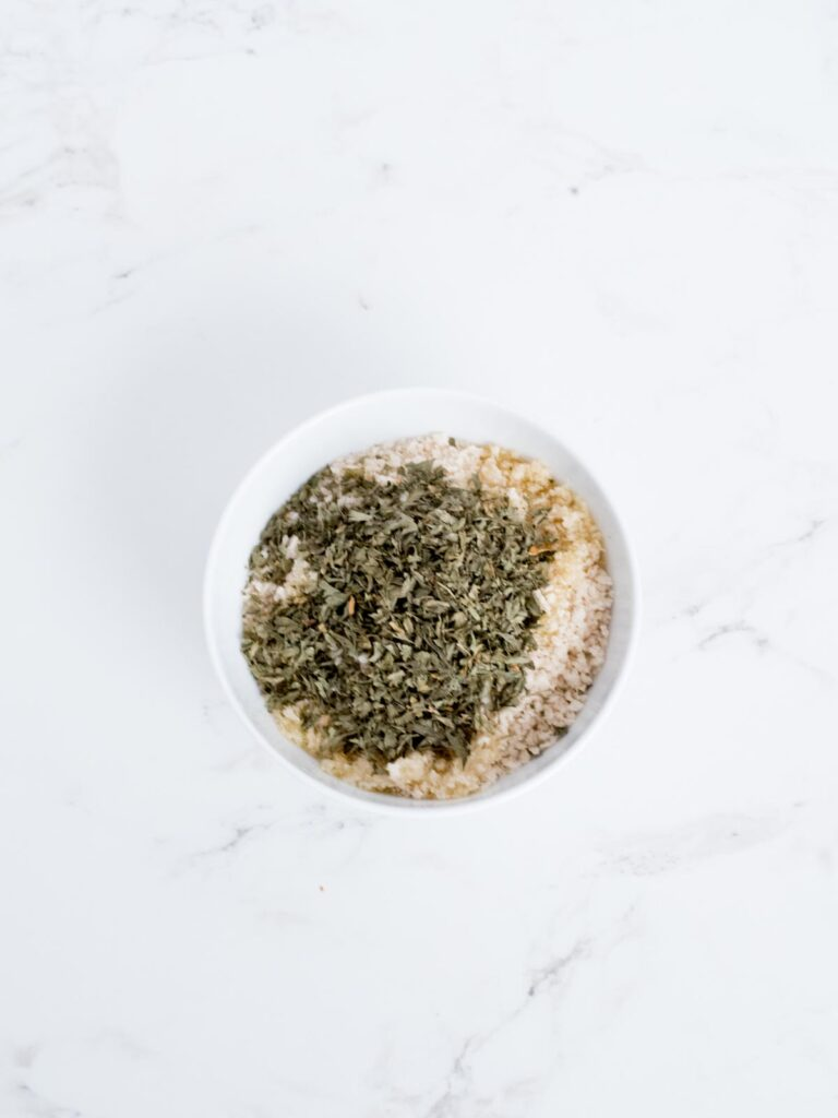 panko breadcrumb topping mixture in a bowl