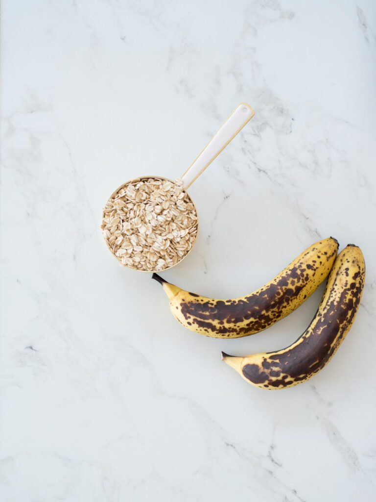 ingredients for healthy banana oatmeal cookies