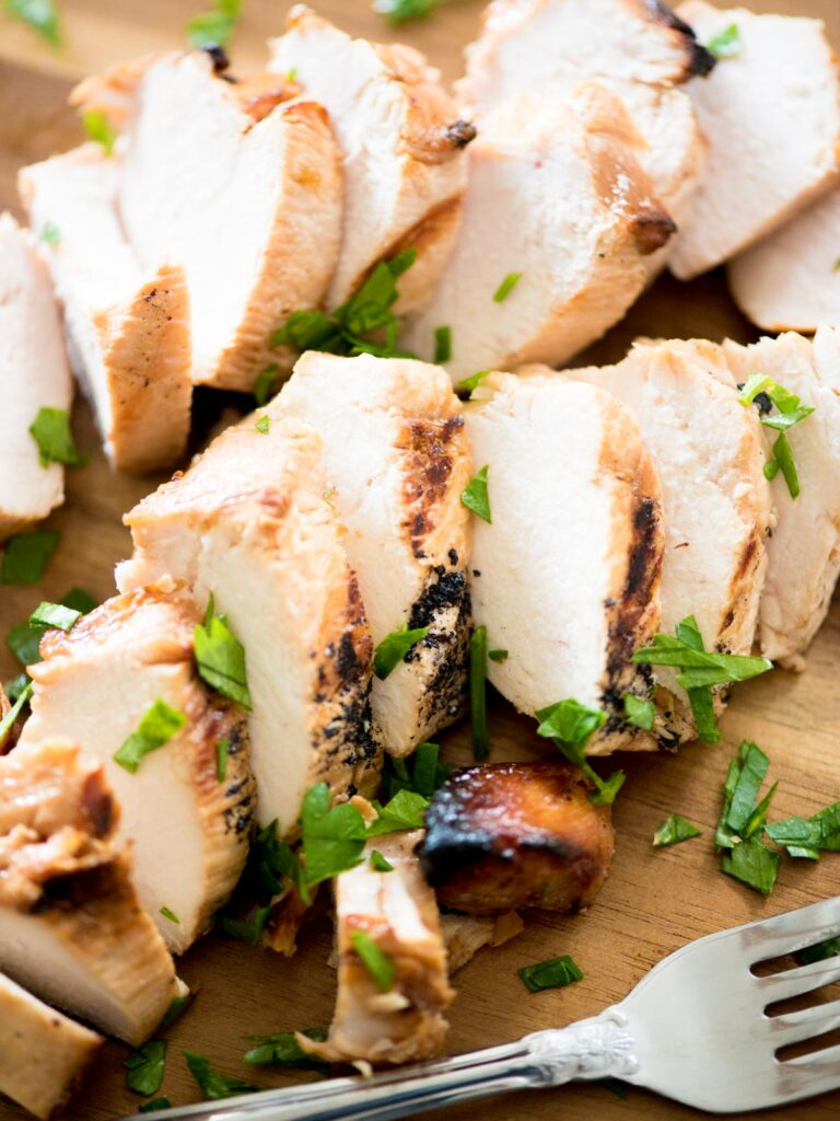 sliced marinated grilled chicken