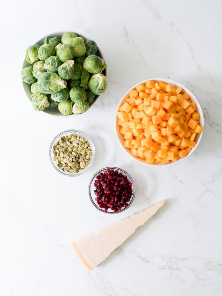 ingredients for autumn salad