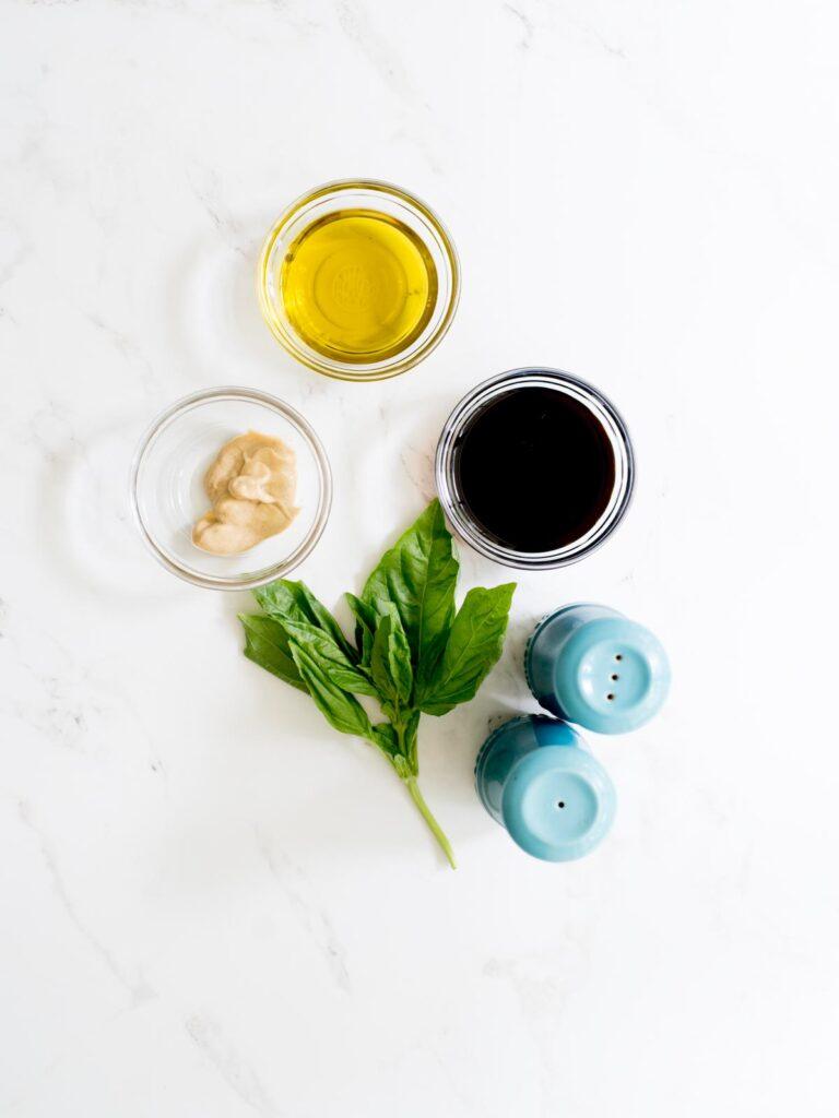 ingredients for balsamic vinaigrette
