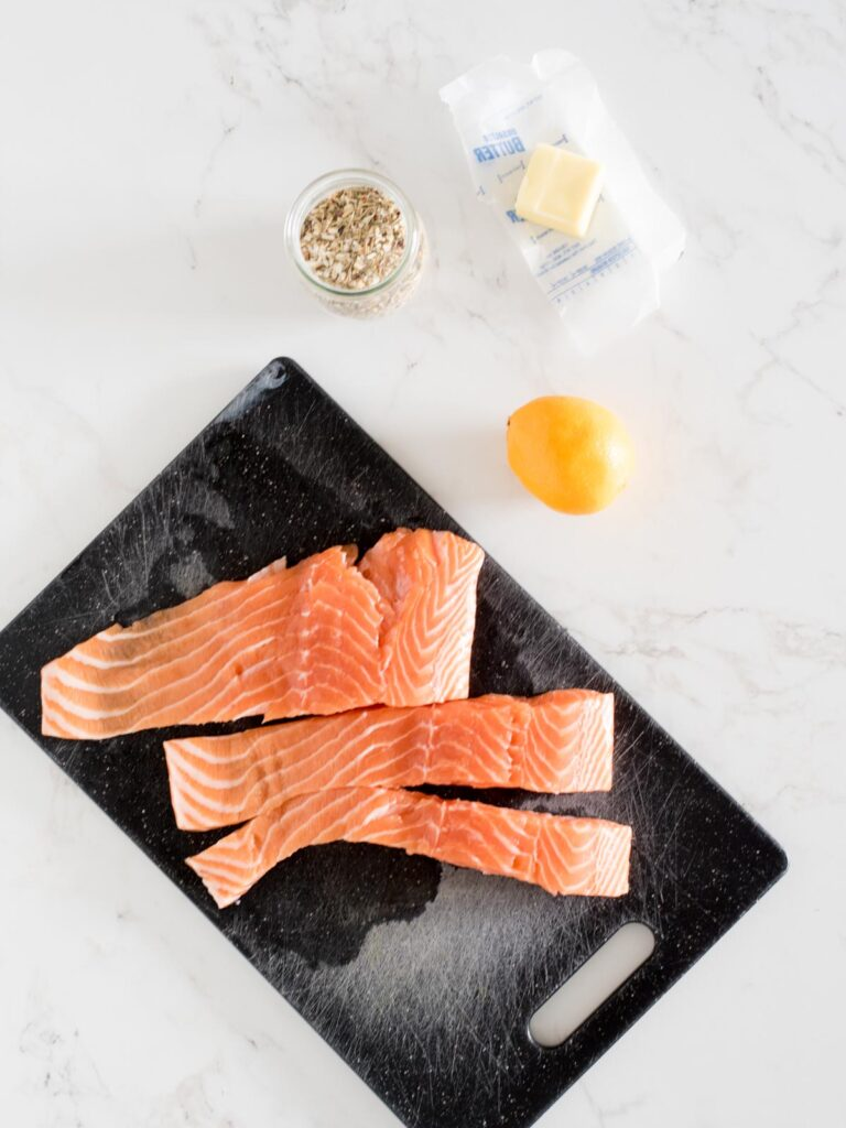 ingredients for lemon butter salmon