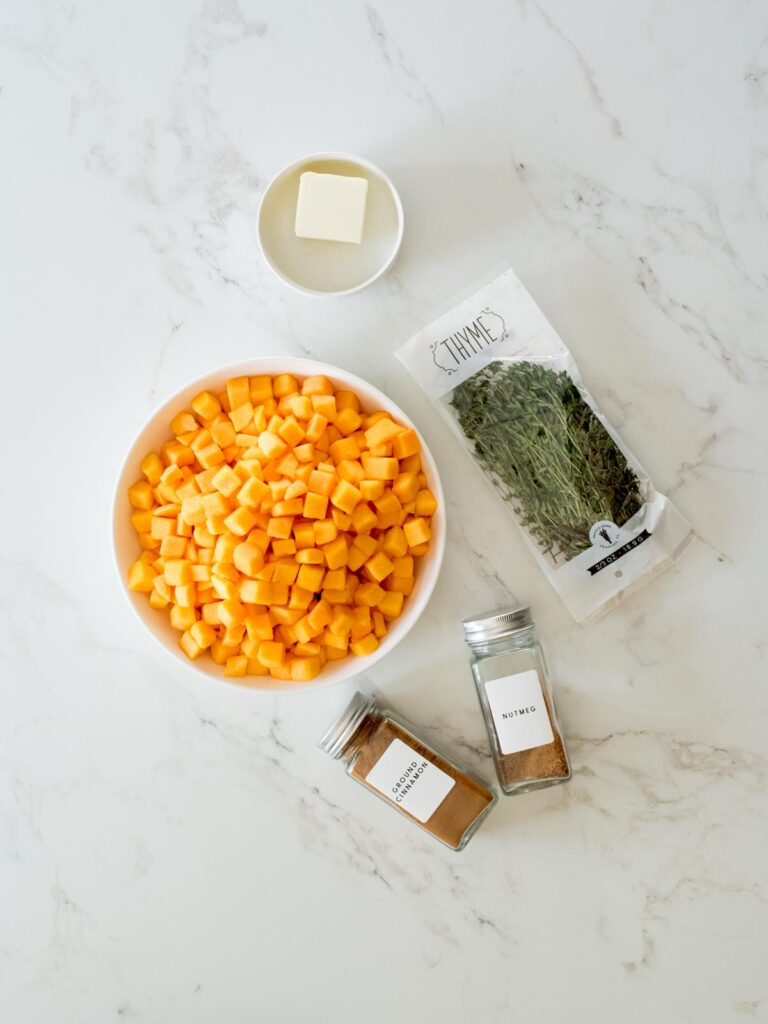 ingredients for sauteed butternut squash