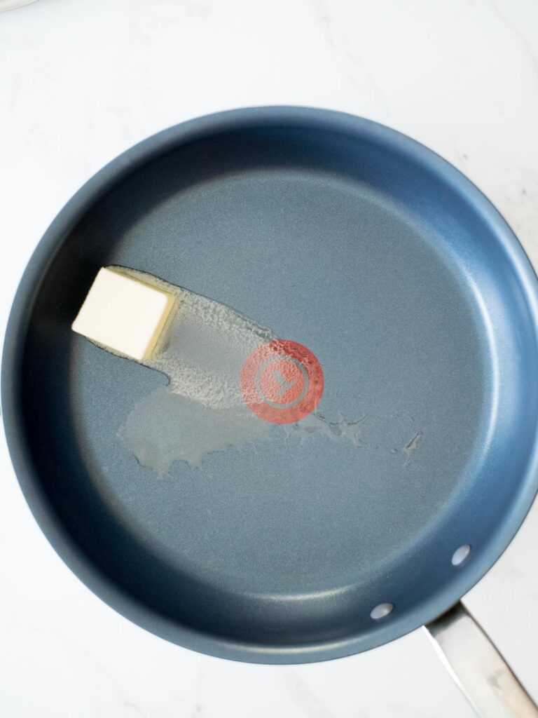 butter in a skillet